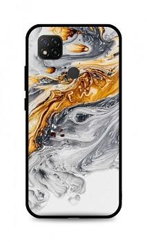 Zadní pevný kryt LUXURY na Xiaomi Redmi 9C Marble šedo-zlatý