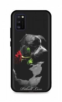 Zadní silikonový kryt DARK na Samsung A41 Pitbull Love
