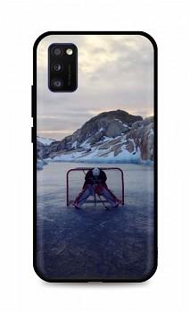 Zadní silikonový kryt DARK na Samsung A41 Hockey Goalie
