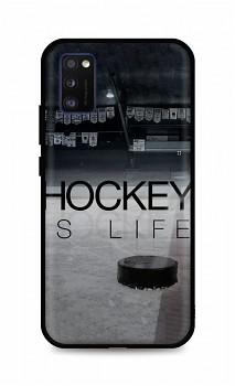 Zadní silikonový kryt DARK na Samsung A41 Hockey Is Life