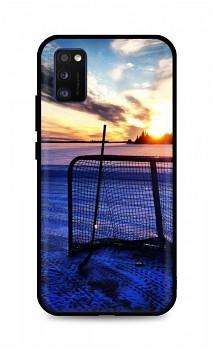 Zadní silikonový kryt DARK na Samsung A41 Hockey Sunset