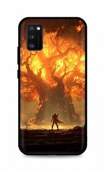 Zadní silikonový kryt DARK na Samsung A41 Warcraft