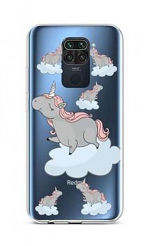Zadní silikonový kryt na Xiaomi Redmi Note 9 Grey Unicorns