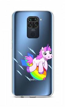 Zadní silikonový kryt na Xiaomi Redmi Note 9 Flying Unicorn