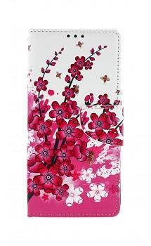 Knížkové pouzdro na Xiaomi Redmi 9C Kytičky textil