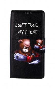 Knížkové pouzdro na Xiaomi Redmi 9C Don't Touch méďa