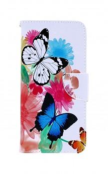Knížkové pouzdro na Xiaomi Redmi 9C Barevné s motýlky