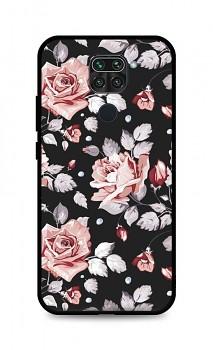 Zadní pevný kryt LUXURY na Xiaomi Redmi Note 9 Black Roses