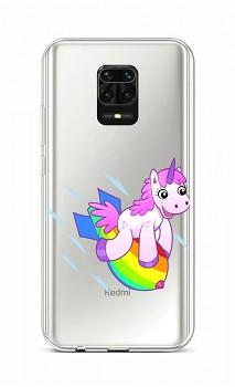 Zadní silikonový kryt na Xiaomi Redmi Note 9 Pro Flying Unicorn