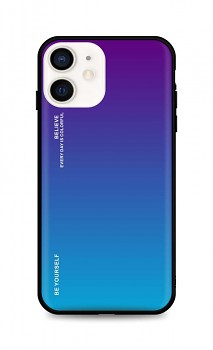 Zadní pevný kryt LUXURY na iPhone 12 duhový purpurový