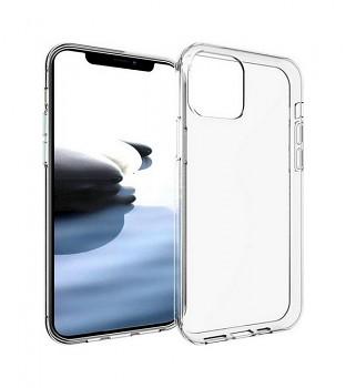 Zadní silikonový kryt na iPhone 12 1 mm průhledný