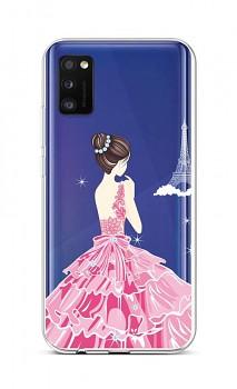 Zadní silikonový kryt na Samsung A41 Pink Princess