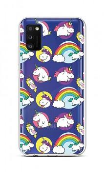 Zadní silikonový kryt na Samsung A41 Chunky Unicorns