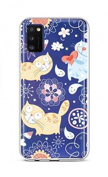 Zadní silikonový kryt na Samsung A41 Happy Cats
