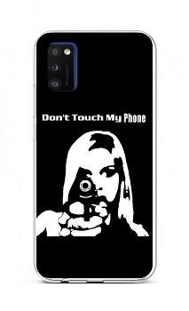 Zadní silikonový kryt na Samsung A41 Don't Touch Gun