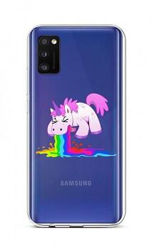 Zadní silikonový kryt na Samsung A41 Rainbow Splash