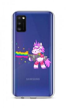 Zadní silikonový kryt na Samsung A41 Rainbow Gun