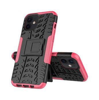Ultra odolný zadní kryt na iPhone 12 růžový