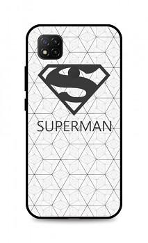 Zadní 3D silikonový kryt na Xiaomi Redmi 9C Bílý Superman