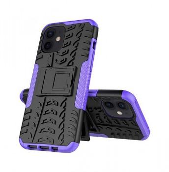 Ultra odolný zadní kryt na iPhone 12 fialový
