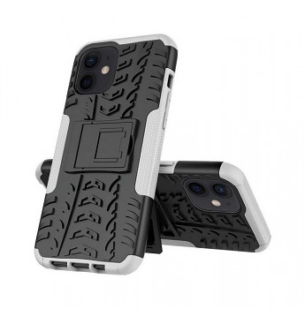 Ultra odolný zadní kryt na iPhone 12 bílý