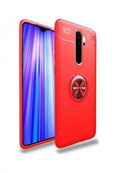 Zadní silikonový kryt na Xiaomi Redmi 9 červený s červeným prstenem