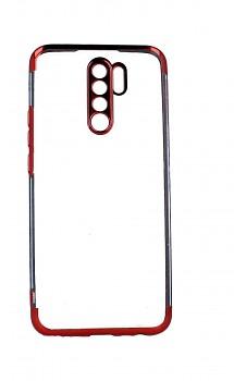 Zadní silikonový kryt na Xiaomi Redmi 9 Frame červený