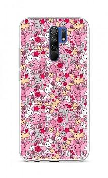 Zadní silikonový kryt na Xiaomi Redmi 9 Pink Bunnies