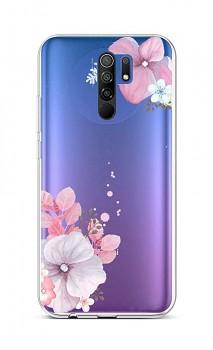Zadní silikonový kryt na Xiaomi Redmi 9 Violet Blossom