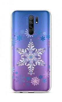 Zadní silikonový kryt na Xiaomi Redmi 9 Snowflake