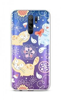 Zadní silikonový kryt na Xiaomi Redmi 9 Happy Cats