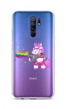 Zadní silikonový kryt na Xiaomi Redmi 9 Rainbow Gun