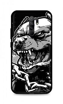 Zadní silikonový kryt DARK na Xiaomi Redmi 9 Agressive Pitbull
