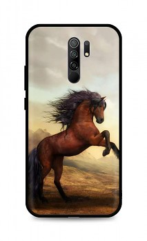 Zadní silikonový kryt DARK na Xiaomi Redmi 9 Brown Horse