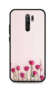 Zadní silikonový kryt DARK na Xiaomi Redmi 9 Roses