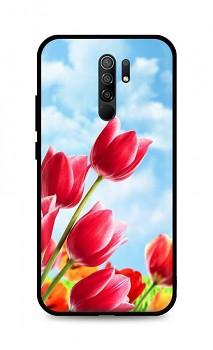 Zadní silikonový kryt DARK na Xiaomi Redmi 9 Tulips