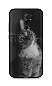 Zadní silikonový kryt DARK na Xiaomi Redmi 9 Cute Cat