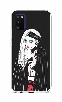 Zadní silikonový kryt na Samsung A41 Dark Girl