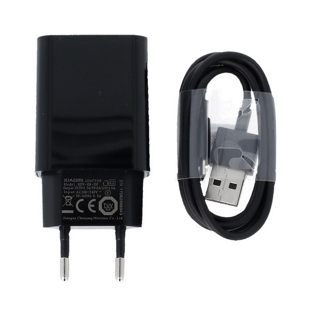 Originální nabíječka Xiaomi MDY-08-DF + micro USB datový kabel černá 2A 53165