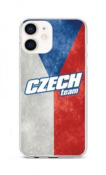 Zadní silikonový kryt na iPhone 12 mini Czech Team
