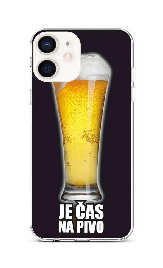 Zadní silikonový kryt na iPhone 12 mini Pivo