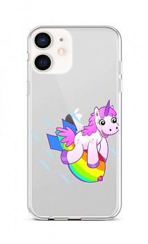 Zadní silikonový kryt na iPhone 12 mini Flying Unicorn