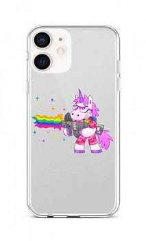 Zadní silikonový kryt na iPhone 12 mini Rainbow Gun
