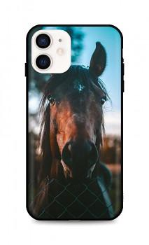 Zadní silikonový kryt DARK na iPhone 12 mini Horse