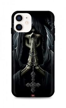 Zadní silikonový kryt DARK na iPhone 12 mini Grim Reaper