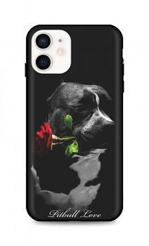 Zadní silikonový kryt DARK na iPhone 12 mini Pitbull Love