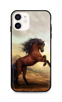 Zadní silikonový kryt DARK na iPhone 12 mini Brown Horse