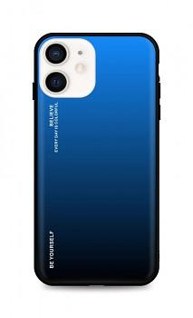Zadní pevný kryt LUXURY na iPhone 12 mini duhový modrý