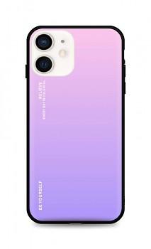 Zadní pevný kryt LUXURY na iPhone 12 mini duhový růžový