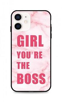Zadní pevný kryt LUXURY na iPhone 12 mini Girl Boss